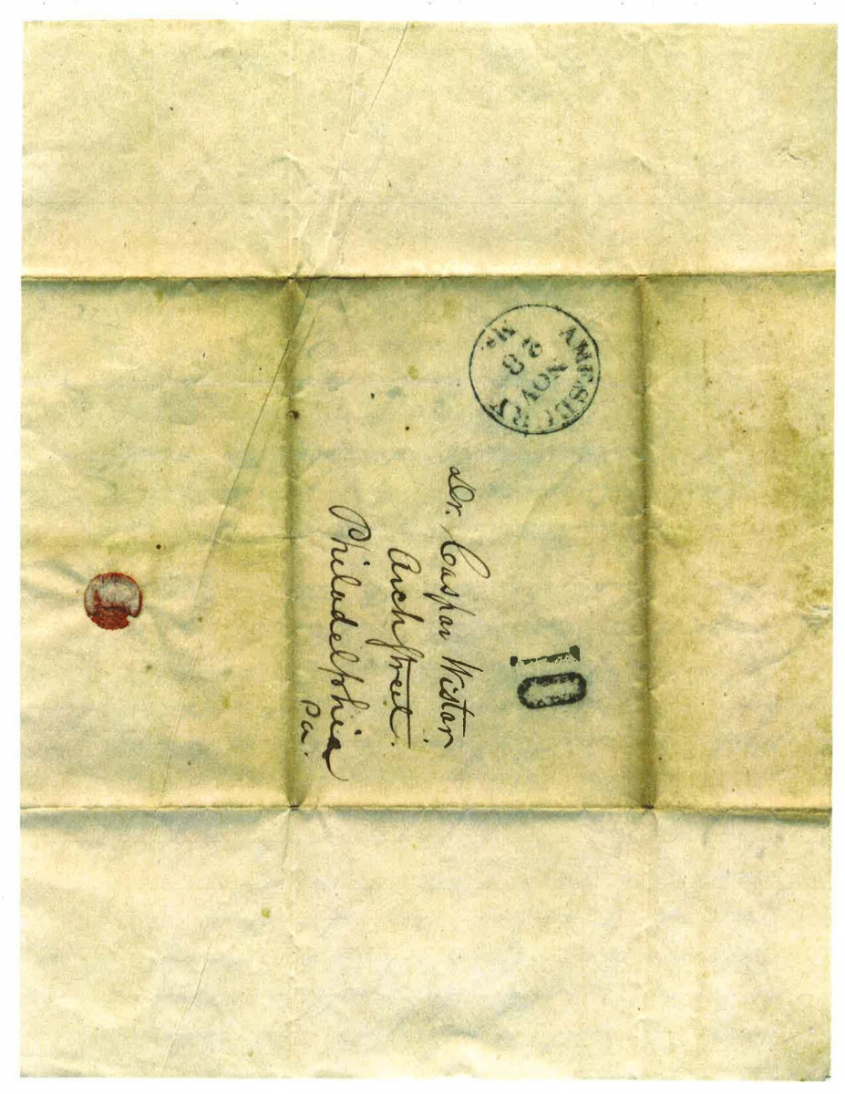 Abolitionist letter, address