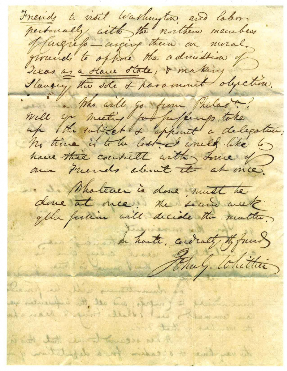 Abolitionist letter, page 2