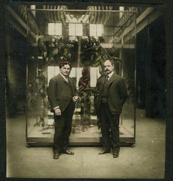 Milton J. Greenman, 3rd Dir of Institute (L), and Horace Jayne, 2nd Dir of Inst. (R)